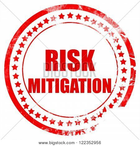 Risk mitigation sign with some smooth lines and highlights