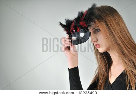 Mystery Concept - Woman In Mask