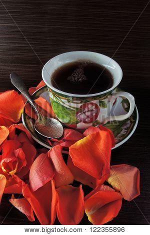 Tea And Rose Petals