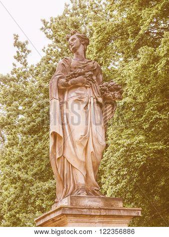 Statue In Park Sanssouci Potsdam Vintage