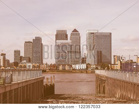 Canary Wharf In London Vintage