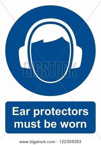 Area, where ear protectors must be worn.