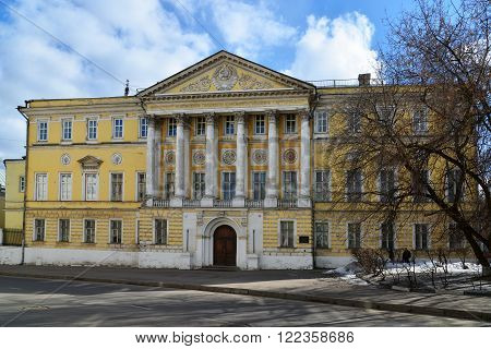 Demidov city estate, Gorokhovsky lane, now the Institute of Geodesy and Cartography Engineers in Moscow, Russia
