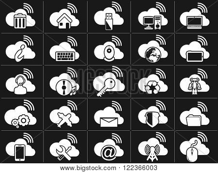 ICONS CLOUD COMPUTING WHITE for web and other