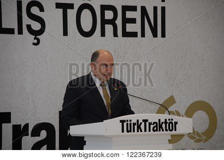 ANKARA/TURKEY-OCTOBER 30: Mr. Marco Votta serves as the Chief Executive Officer of Turk Traktor ve Ziraat Makineleri AS at the opening ceremony of Case Equipment Corporation's showroom. October 30, 2014-Ankara/Turkey