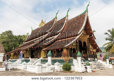 Wat Xieng Thong Temple In Luang Pra Bang Loas