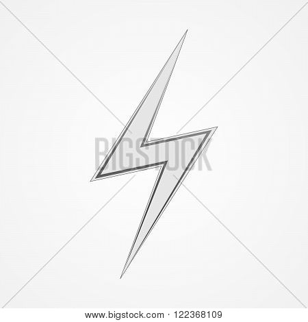 White lightning icon. Sign of lightning - vector illustration.
