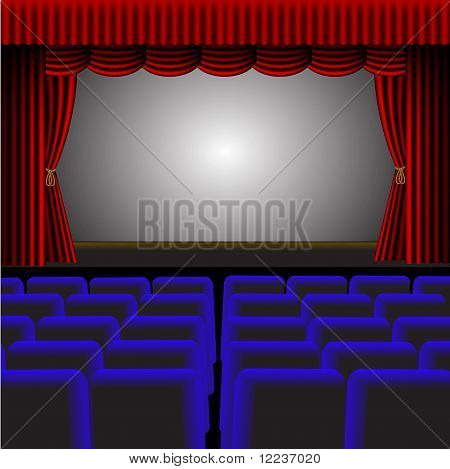 A Vector Theatre Or Cinema Illustration