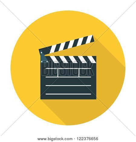Clapper board flat icon. Editable EPS vector format