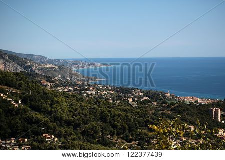 Panoramic View Of Picturesque Town