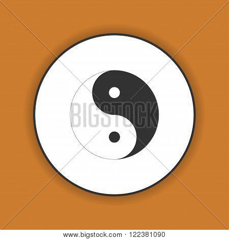 Yin Yang Symbol - Black and White Vector Illustration