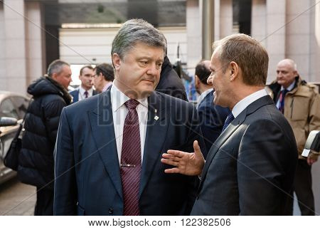 Petro Poroshenko And Donald Tusk