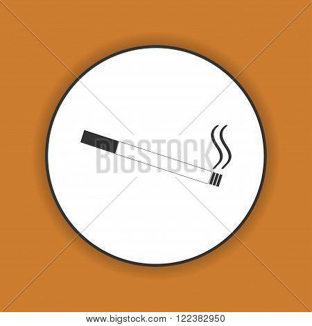 Cigarette icon. Flat design style. EPS 10