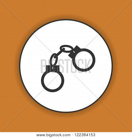 handcuffs icon. Flat design style eps 10