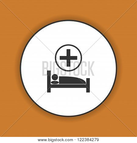 hospital bed Vector flat Illustration EPS 10