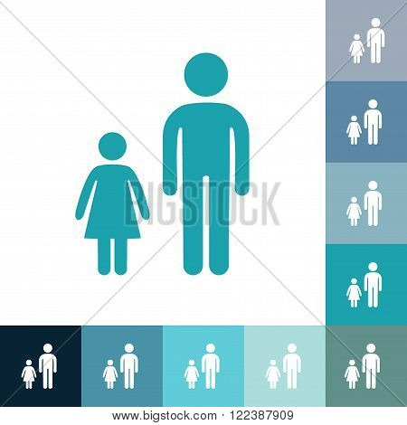 stick figure of human silhouette. vector picture