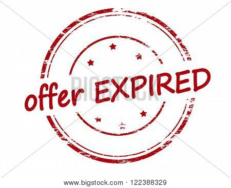 Rubber stamp with text offer expired inside vector illustration