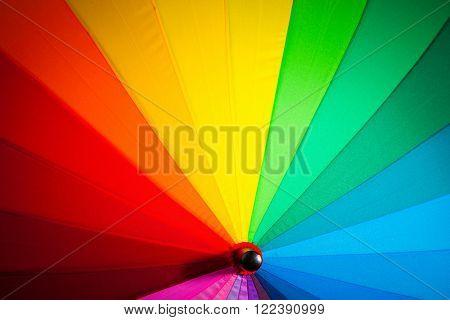 rainbow spectrum multicolored background of an umbrella