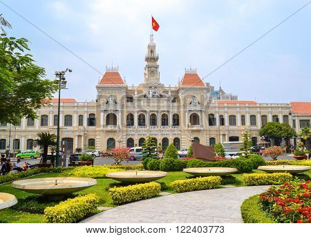 Ho Chi Minh City Vietnam - March 7 2013 : Ho Chi Minh City Hall