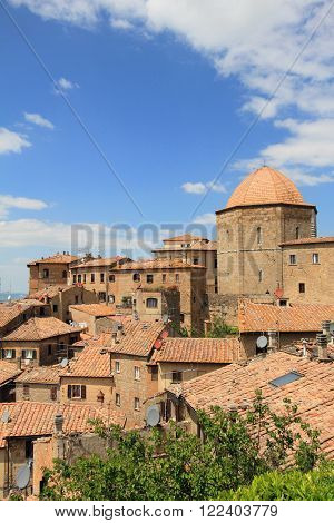 medieval village of Volterra in Tuscany, Italy