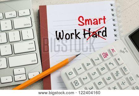 concept of work smart instead of work hard