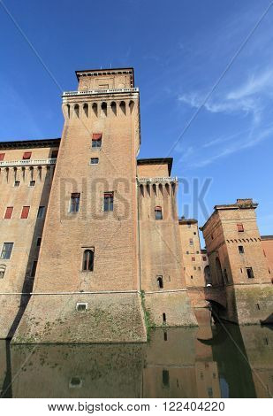 medieval castle of Ferrara, unesco world heritage, Italy