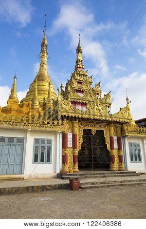 Mway Daw Payagyi temple in Pinlaung, Myanmar.