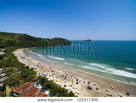 Aerial View of Baleia Beach, Sao Sebastiao, Sao Paulo, Brazil