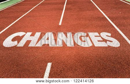 Changes written on running track