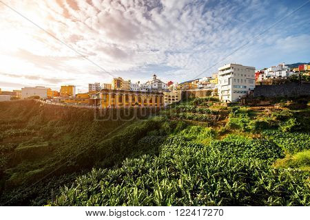 View on Los Sauces city on La Palma island in Spain