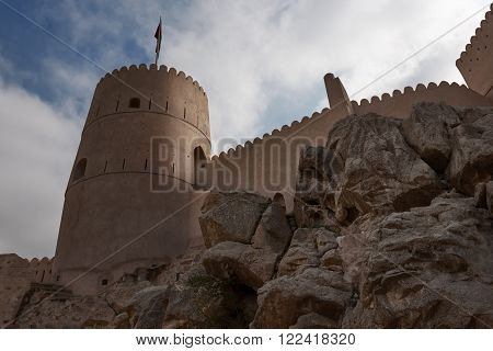 Watch Tower of a fort in Oman