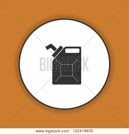 Jerrycan oil vector icon. Flat design style eps 10
