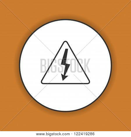High voltage - Vector illustration. Flat design style eps 10