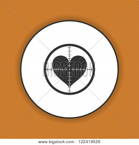 Illustration of a crosshair icon with a heart