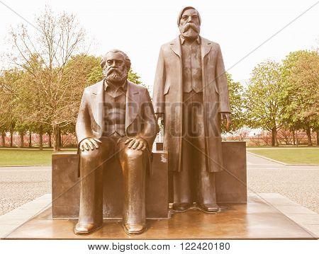 Marx-engels Forum Statue Vintage