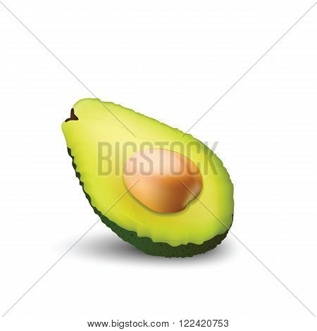 Fragrant and fresh Avocado with a pip for your design