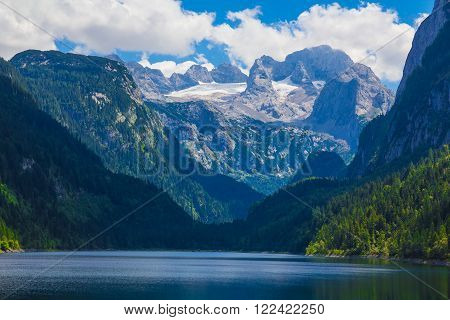 Dachstein mountain with Gosausee lake, Alps, Austria