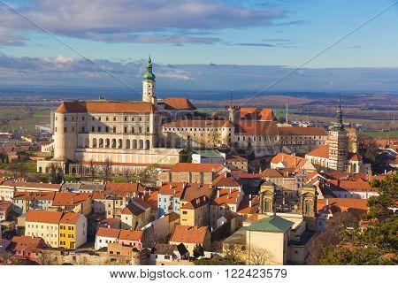 Mikulov castle Southern Moravia Czech Republic clear sky