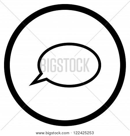 Hint Cloud vector icon. Picture style is flat hint cloud rounded icon drawn with black color on a white background.