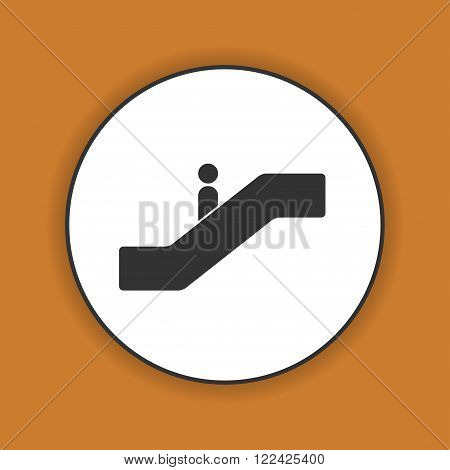 Escalator icon. Flat design style. EPS 10