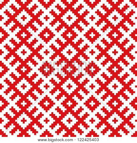 Belorussian ethnic ornament, seamless pattern. Vector illustration.