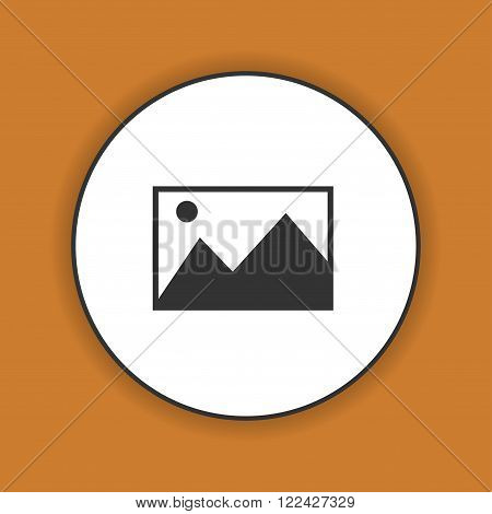 Photo picture web icon in flat style.