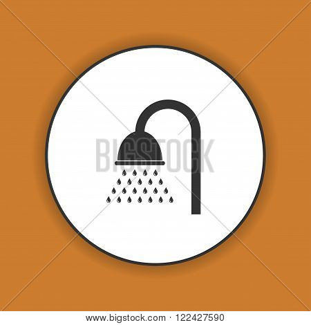 Shower icon. Flat design style eps 10