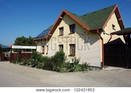 Mala Trna PRESOV SLOVAKIA - JULY 19 2014: New private pension in Mala Trna Presov region Slovakia.