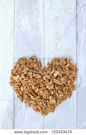 Walnut Heart Background