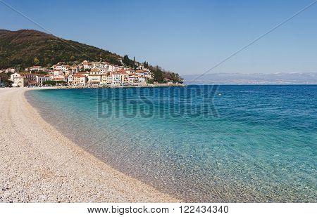 Town of Moscenicka Draga in Croatia on Adriatic sea
