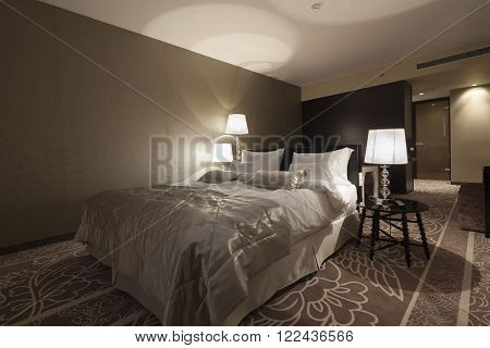 Bedroom In Hotel Apartment Interior