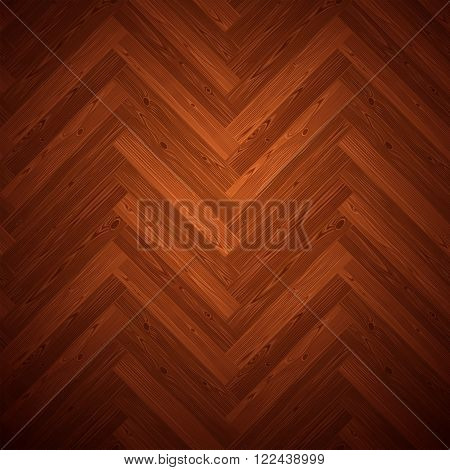 Herringbone parquet dark floor texture. Editable vector pattern in swatches.