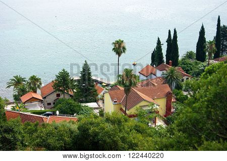 Houses near the Adriatic Sea in Montenegro