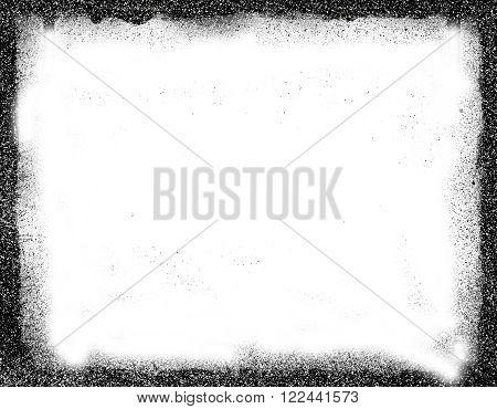 grunge frame with half tone background in black
